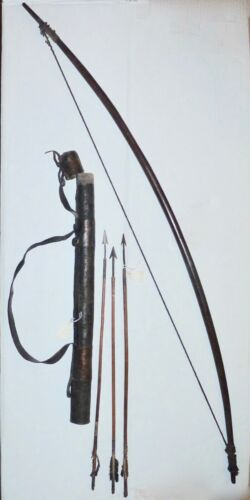 bOW GOGO TRIBE ARROWS QUIVER TANZANIA AFRICAN TRIBAL WEAPONS PRIMITIVE neocurio