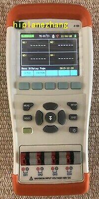 Thermometer 4-channel Input Thermocouple T K J N E S R B Li-battery Tft Lcd Usb
