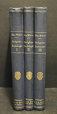 Weber – Religionssoziologie – 3 Bände - Erste Ausgabe - 1920-1921