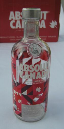 ABSOLUT VODKA * CANADA 150 * LIMITED EDITION * MINT * EMPTY 750 ml BOTTLE *