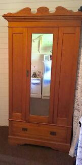 Gorgeous Solid silky oak hall unit with mirror