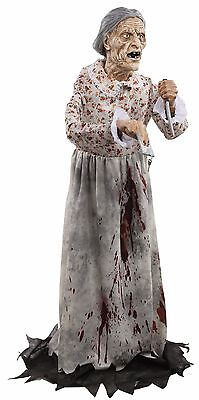 Granny Bates Halloween Prop Lifesize 5 feet Poseable Haunted House Decoration