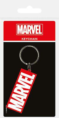 Marvel - Logo - Gummi Schlüsselanhänger Keyring - ca. 4,5x6