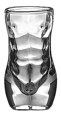 Unique Shot Glass Hot Body Sexy Body Male Man Bachelorette Gift 1.5oz by Dopecha