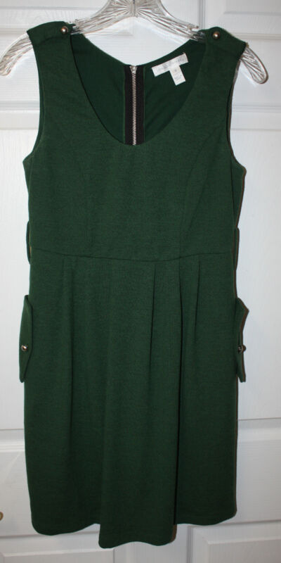 Womens Ladies London Times Green Sleeveless Jumper Dress Size 4