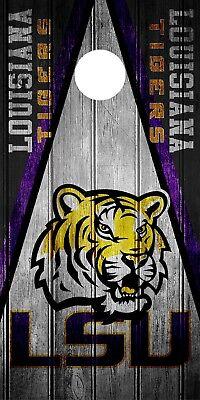 SINGLE LSU Tigers Cornhole Wrap Skin Decal Vinyl NCAA Board Game Wood Logo - Tigers Logo Single
