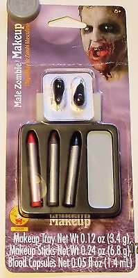 Horror Face Makeup (NIP Rubies 33539 Male Zombie Face Makeup Kit, Halloween, Scary, Horror)