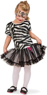 Kleines Zebra Plüsch Kinder Karneval Fasching Kostüm 104-116 ()