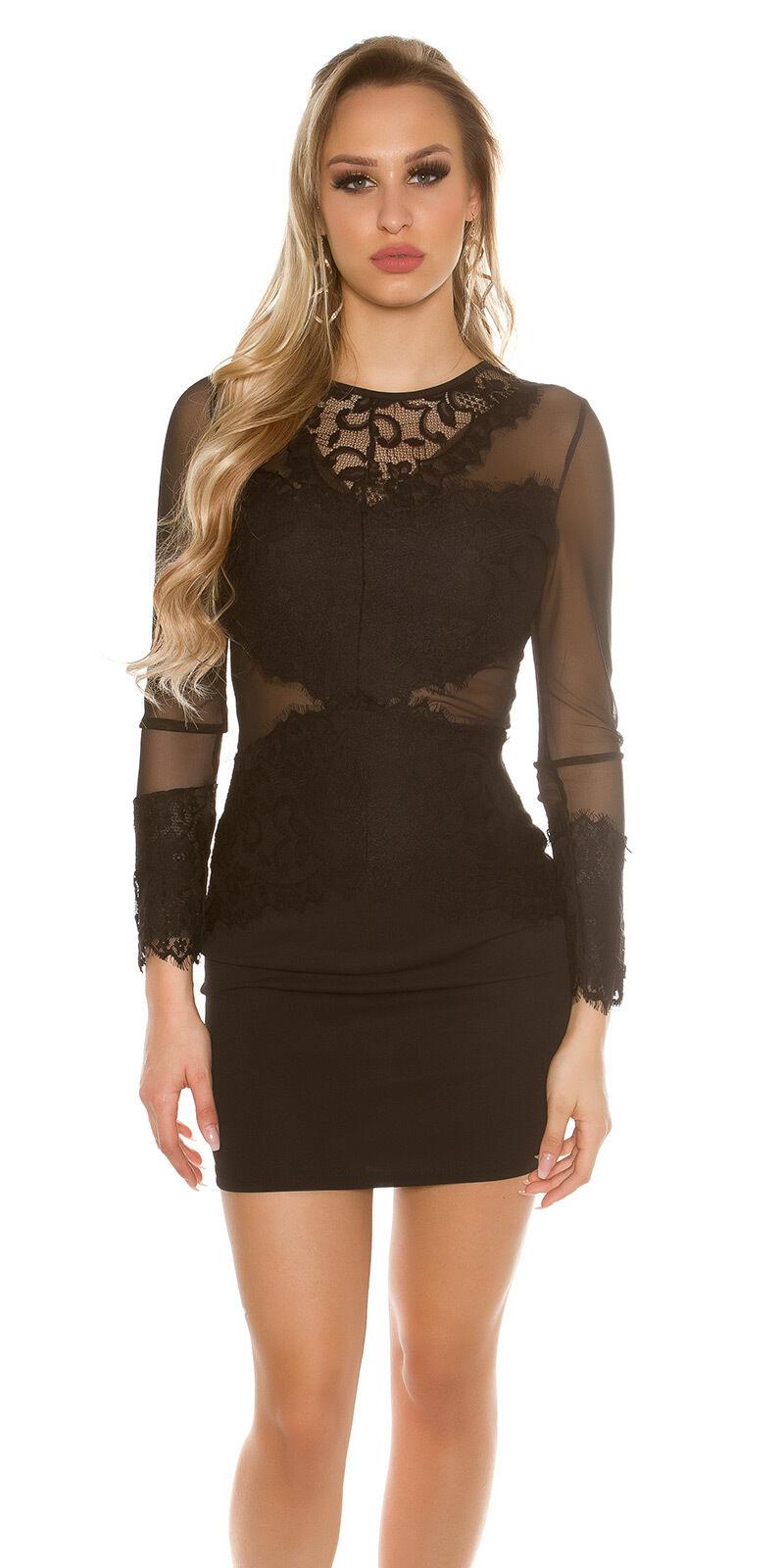 Vestito donna pizzo mini abito elegante tubino miniabito vestitino sera  cocktail de1477777fc