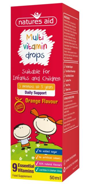 Multi-Vitamin Drops for Infants & Children - Natures Aid