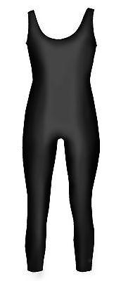 Bodysuit Tank Unitard Costume Shiny Spandex Black Child Sizes Dance  - Tank Unitard