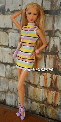 PINK PASSPORT Mock Turtle Neck Dress and Lavender Accessories