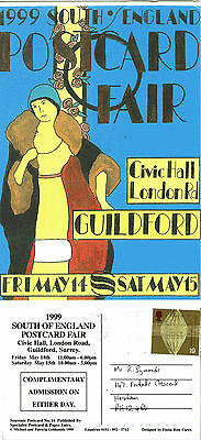 1999 SOUTH OF ENGLAND POSTCARD FAIR GUILDFORD SURREY POSTCARD