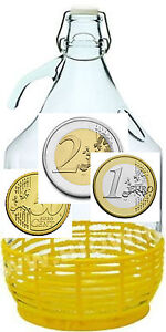 Sparflasche Sparbüchse Spardose 5L Bügelflasche Glasflasche Flasche