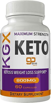 KGX Keto Pills 800 Advanced Energy Ketones with Go BHB Capsules Ketones Ketog...