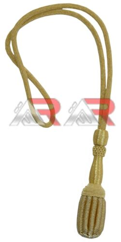 New Brand Army/Navy Sword Knot Gold Bullion American US Coast Guard Cord  Acorn