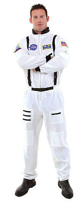 ASTRONAUT JUMPSUIT COSTUME NASA WHITE SHUTTLE SHIP MOON SPACE SUIT ADULT - Space Man Costume