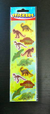 Dinosaur (12) Stickers Scrapbooking (1 Sheet) Party Favors Teacher Supply - Scrapbook Stickers