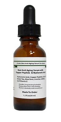 Senior Best Anti Aging Serum with Copper Peptide & Hyaluronic (Best Copper Peptide Skin Care Products)