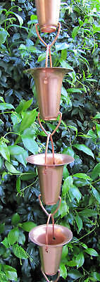 Stanwood Rain Chain: Copper Rain Chain Cup/Bell/Funnel - 8 feet