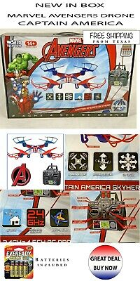 Wonder at Avengers Captain America Skyhero Micro RC Drone 4.5-Channel 2.4GHz New