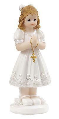 Kommunion Tortenfigur Kommunionkind Kreuz Figur Konfirmation Mädchen betend