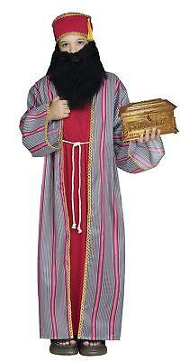 3 Wise Men Child Costume Boys Biblical Christmas Manger Nativity Wiseman Red](3 Wise Man Costume)