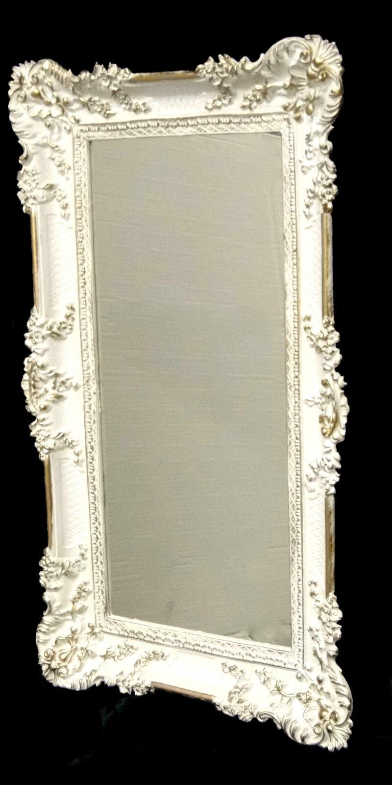 wandspiegel barock wei gold spiegel antik 96x57 mit ornamenten badspiegel 206 eur 84 90. Black Bedroom Furniture Sets. Home Design Ideas