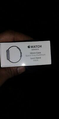 Brand New Sealed Apple Watch  Series 3  38mm  Space Gray Aluminium Black