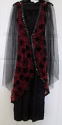 NWT Girl child WINGED VAMPIRESS Scary Halloween Costume size small (Scary Halloween Girl)