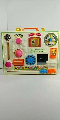 Vintage Fisher Price Activity Center Crib Toy #1134 Baby Toy 1973,1984 0819!!!