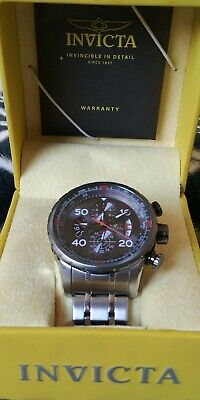 Invicta 17204 AVIATOR Stainless Steel Casual Men's Watch. NEW BATTERY