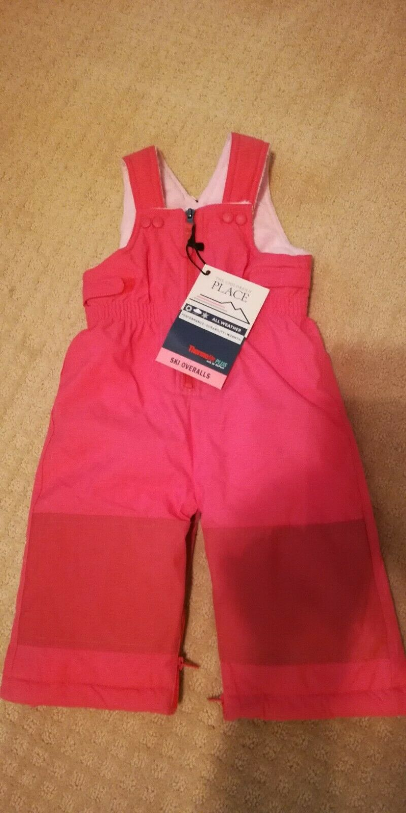 NWT CHILDRENS PLACE Ski Bib Overalls Snow Suit baby girl 6-9