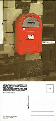 MARCH 1985 THE BRACKET POST BOX BATH POSTAL MUSEUM POSTCARD MINT
