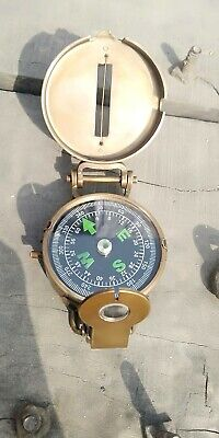 Handmade Nautical British Military Prismatic Pocket Compass Vintage Marine Gift