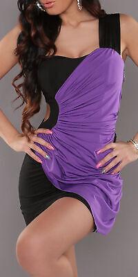 Sexy Miss Mujer 1 Tirantes Mini Vestido Fuera Corte Stretch 34/36/38 Púrpura