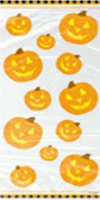 Halloween Pumpkin  Cello Party Bags x 20