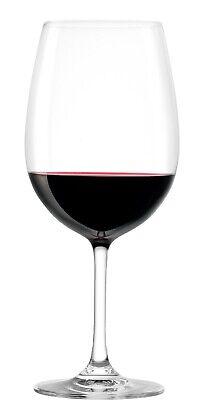 Juego De 6 Grande Rojo Vino Cristal Vidrio Burdeos - 540ml Stolzle