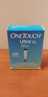 100 ONE TOUCH ULTRA BLUE TEST STRIPS Exp 02/29/2020