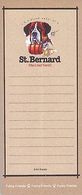 SAINT BERNARD Man's Best Friend Funny Friends Magnetic NOTEPAD List