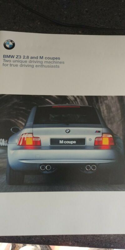 BMW M COUPE E36 SALES BROCHURE LATE 1998 FOR 1999 Model Year