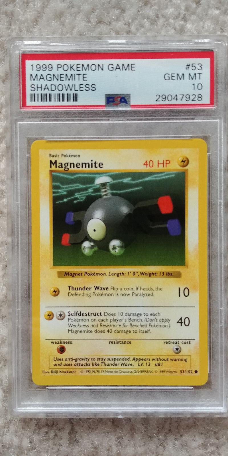 1999 53 Pokemon Base Set Magnemite Common No