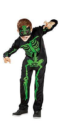 Halloween Kinder Jungen Kostüm Skelett Gr.M 7-10 Jahre