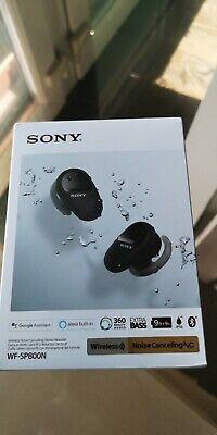 Sony WF-SP800N In-Ear True Wireless Earbud Headset Black Noise Cancelling Stereo