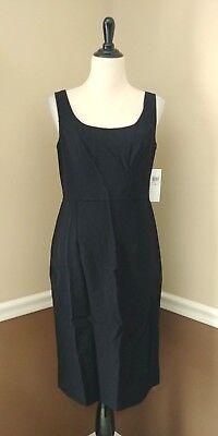 NWT Black Sheath Dress 10 Ivy + Blu Gold Zipper Sleeveless Knee Length Modcloth