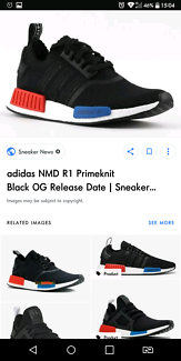 Black Adidas NMD R1 primeknit. Mens UK7/US7.5