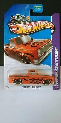 2013 Hot Wheels 1:64 HW Showroom '83 CHEVY SILVERADO (Orange)