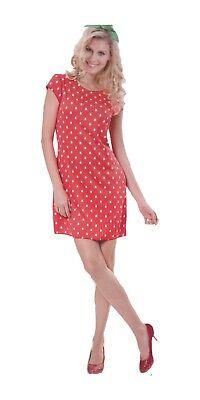 Damen Kostüm Verkleidung für Karneval Fasching Halloween Parties - Erdbeer-Lady