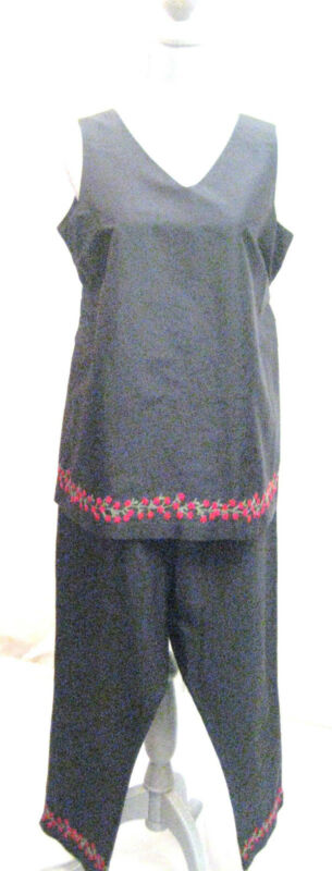 Motherhood Maternity black silk 2 pc set casual career cocktail  party SIZE S