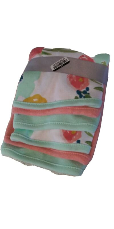Cloud island Infant Baby Girl Washcloths. 6ct brand new